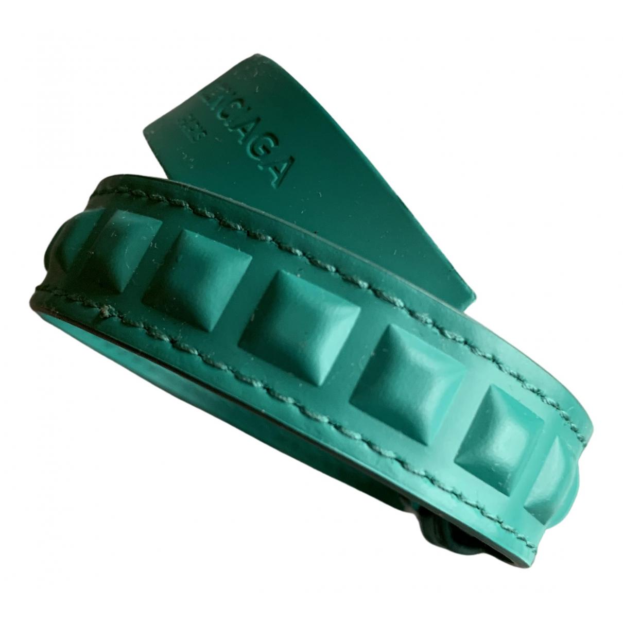 Balenciaga \N Armband in  Gruen Leder