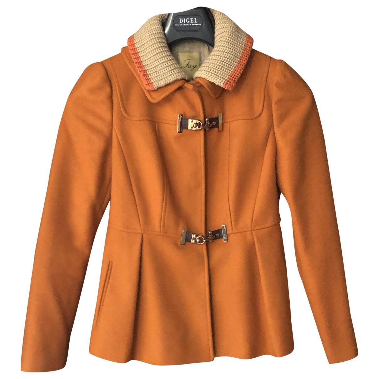 Fay - Veste   pour femme en laine - orange