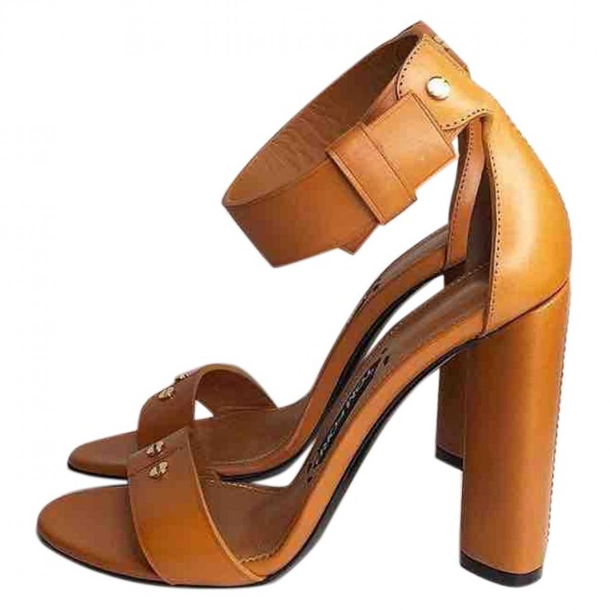 Tom Ford - Sandales   pour femme en cuir - camel