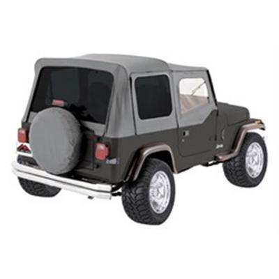 RT Off-Road Replacement Soft Top with Tinted Windows and Upper Door Skins (Gray Denim) - CT20009T