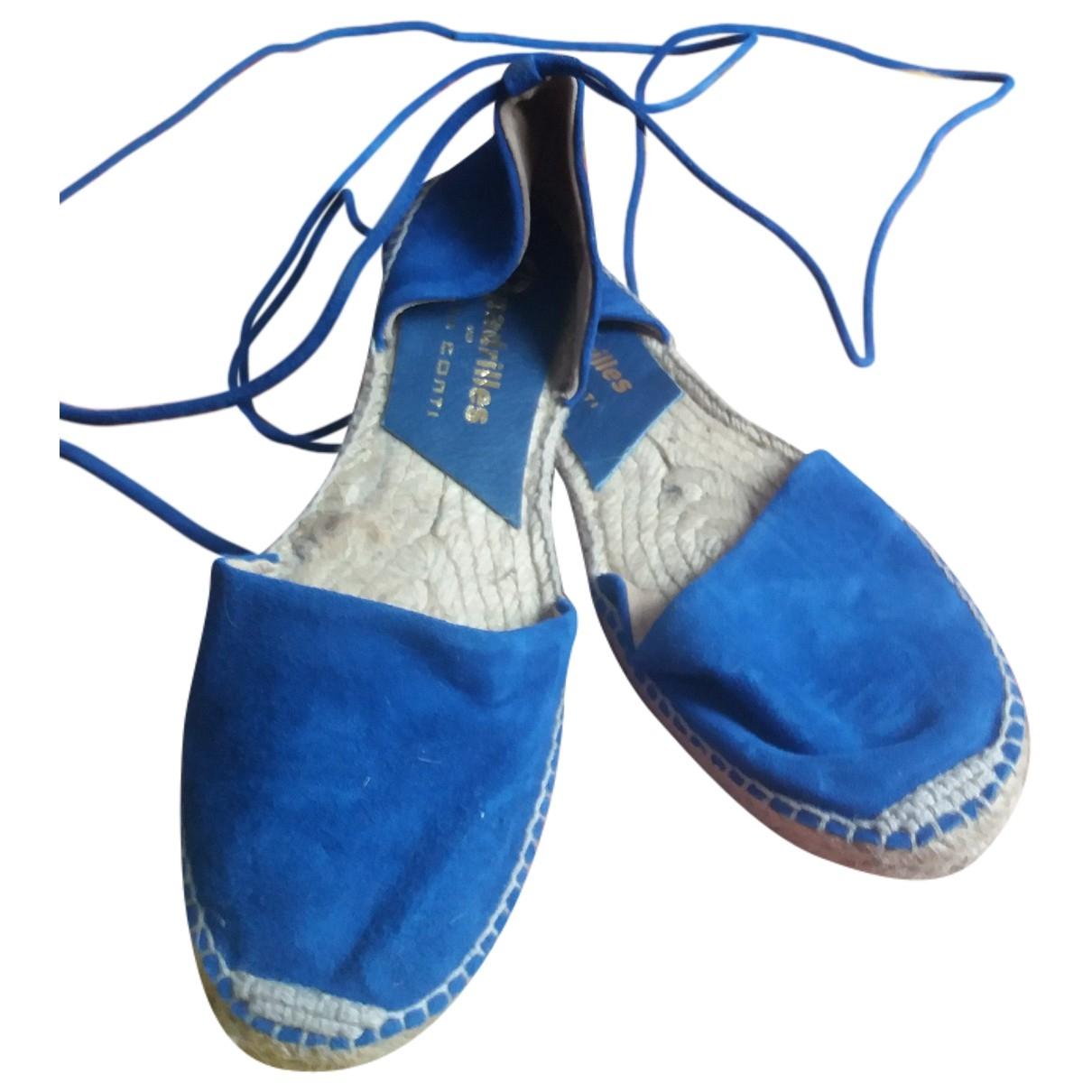 Liviana Conti - Espadrilles   pour femme en suede - bleu