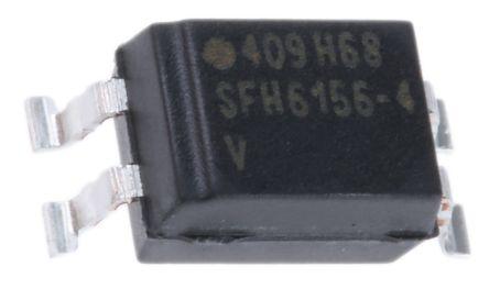 Vishay , SFH6156-4T DC Input Transistor Output Optocoupler, Surface Mount, 4-Pin SMD (10)
