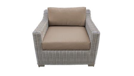 TKC038b-CC-WHEAT Club Chair - Beige and Wheat