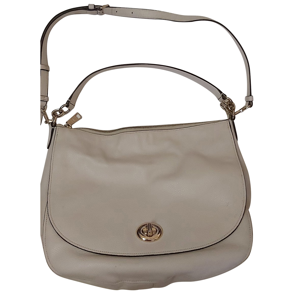 Coach Large Scout Hobo White Leather handbag for Women \N