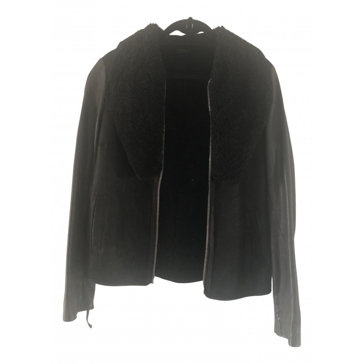 All Saints - Veste   pour femme en cuir - noir