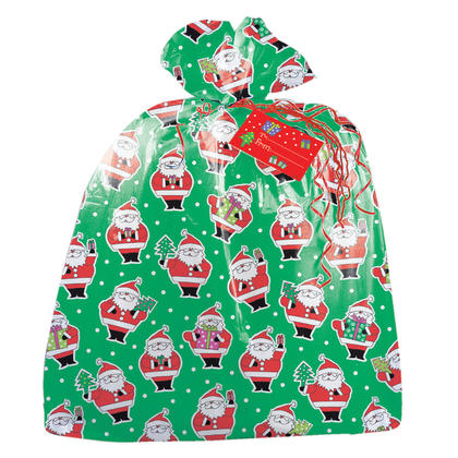 Christmas Santa Jumbo Plastic Gift Bag Cellophane Bag, 1ct