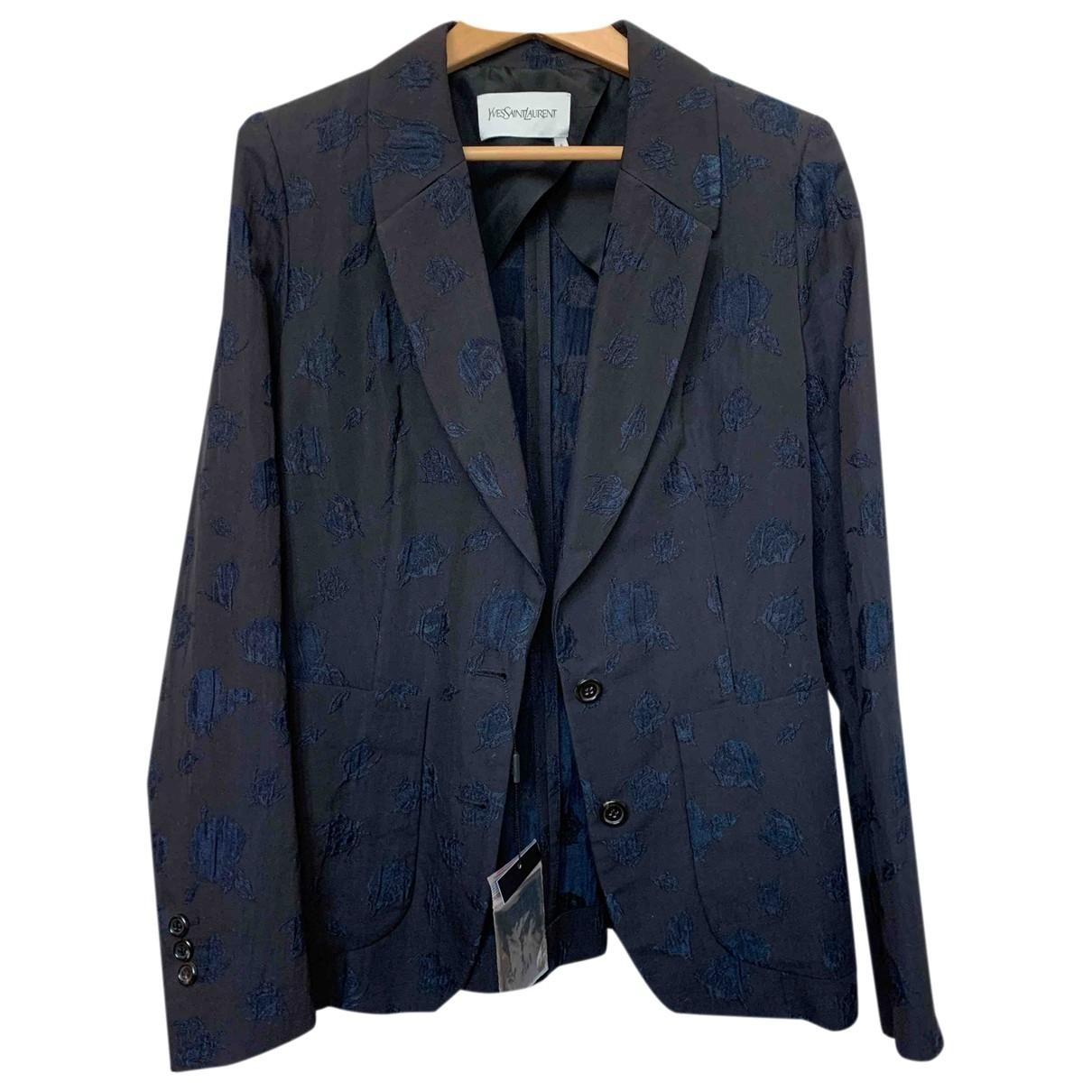 Yves Saint Laurent \N Black Silk jacket for Women 38 FR
