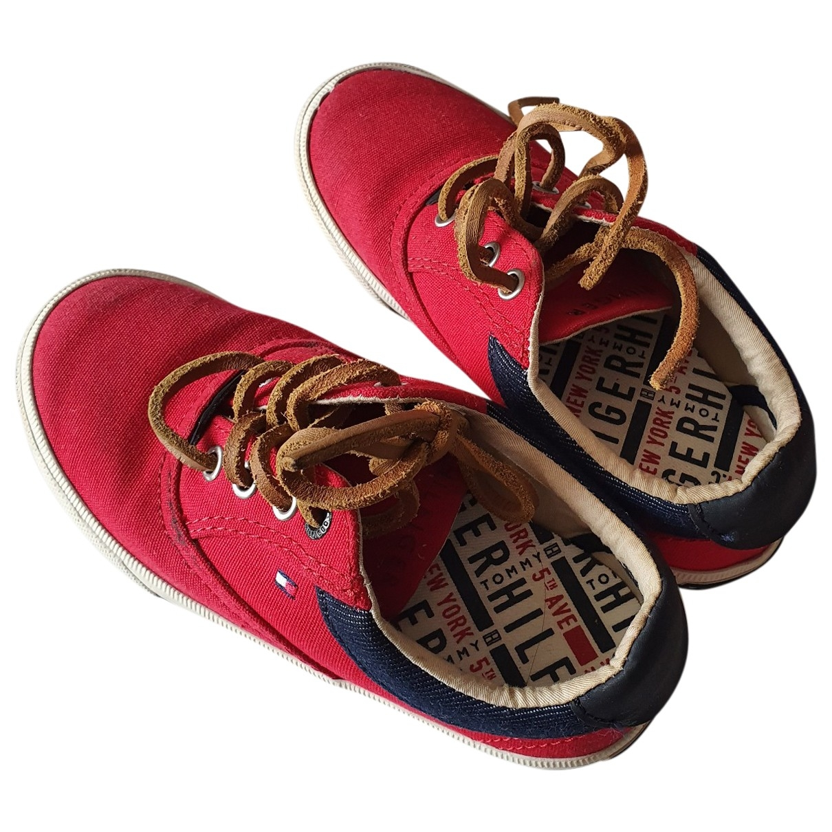 Tommy Hilfiger \N Red Cloth Flats for Kids 28 EU