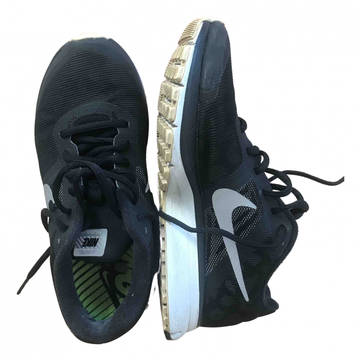 Nike \N Black Leather Trainers for Women 36.5 EU