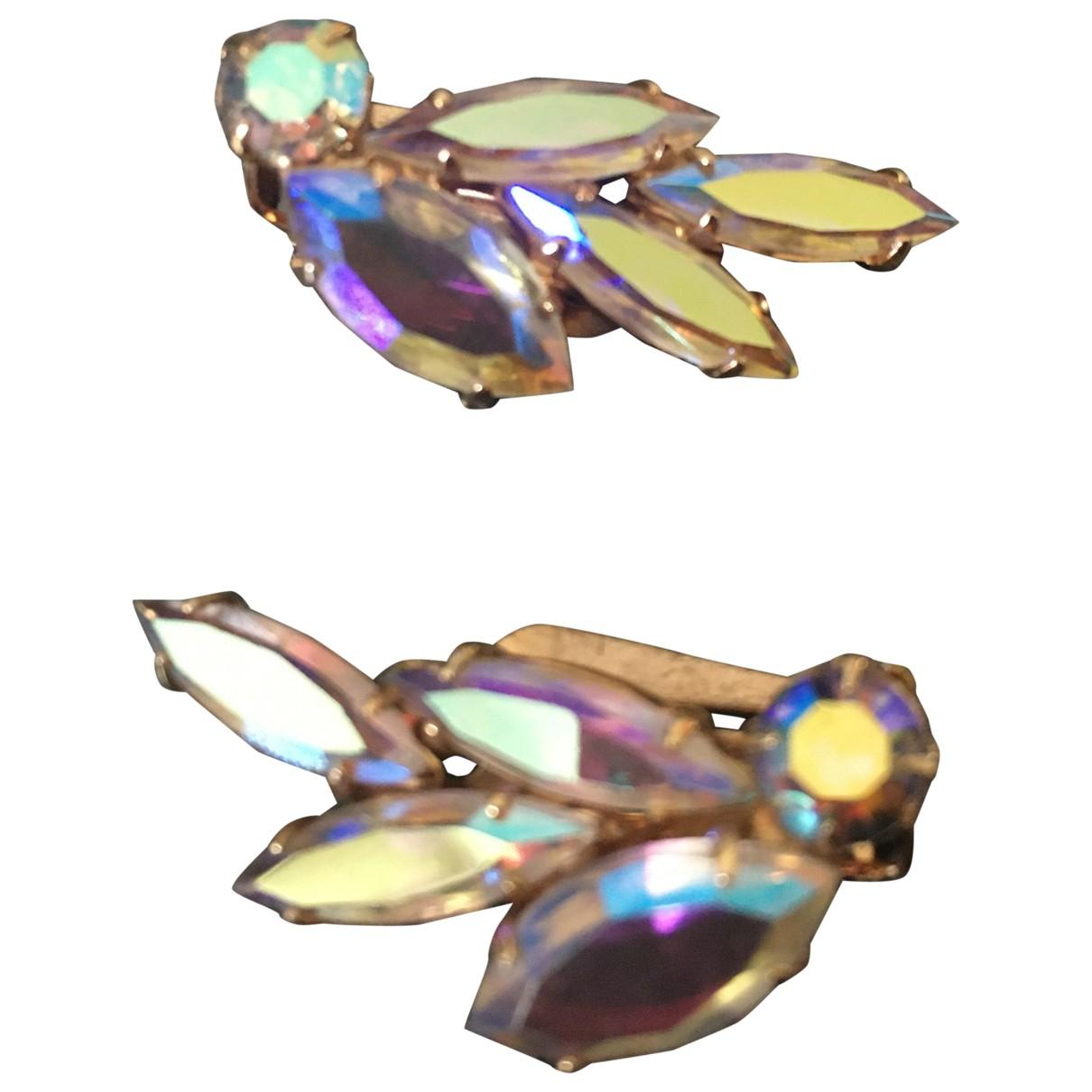 - Boucles doreilles Motifs Floraux pour femme en cristal