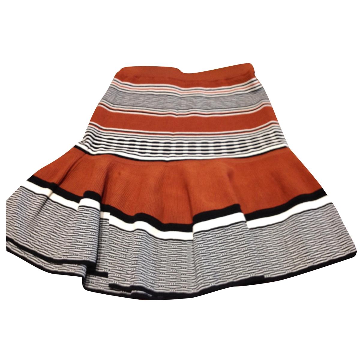Sandro - Jupe   pour femme en coton - elasthane