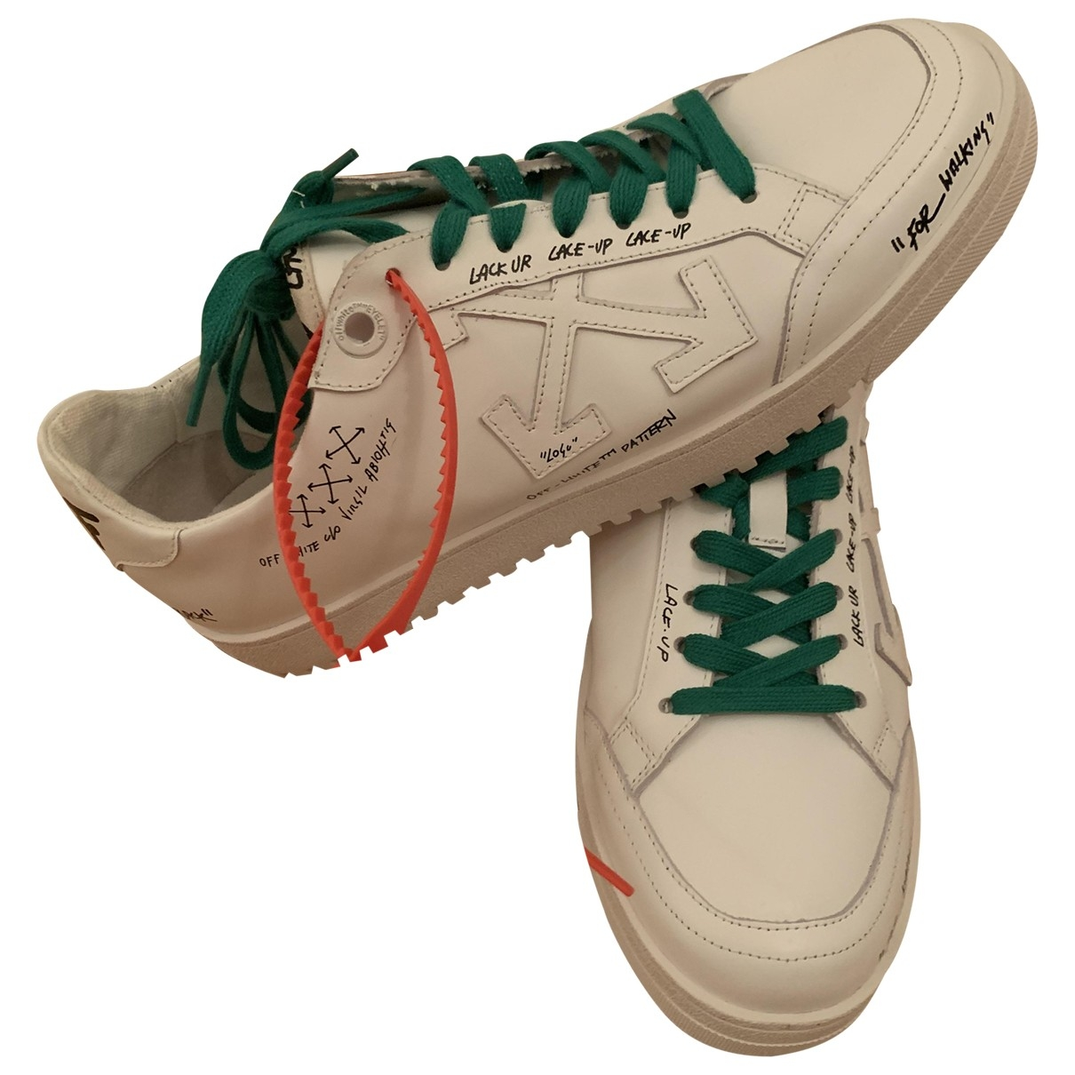 Off-white \N White Leather Trainers for Men 42 EU