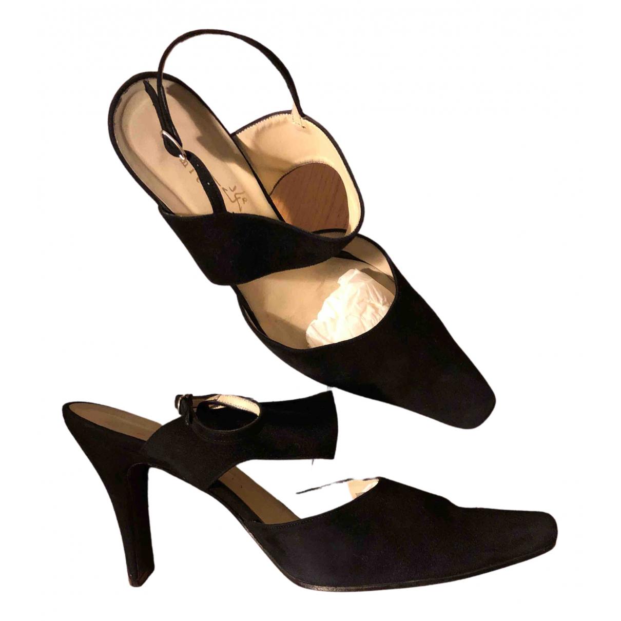 Michel Perry - Escarpins   pour femme en cuir - noir