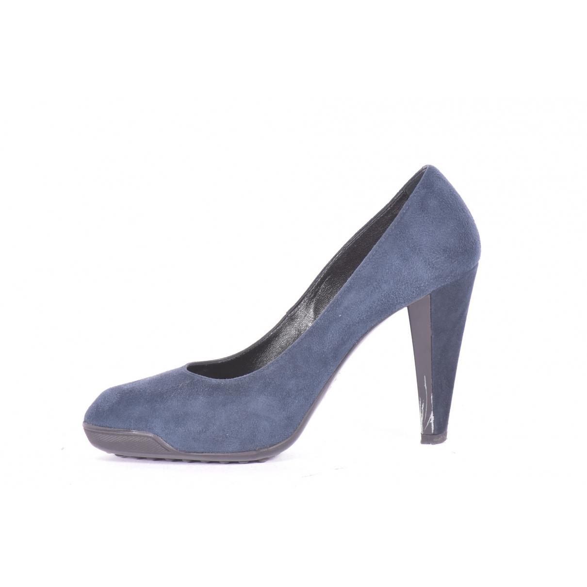 Tods - Escarpins   pour femme en suede - bleu