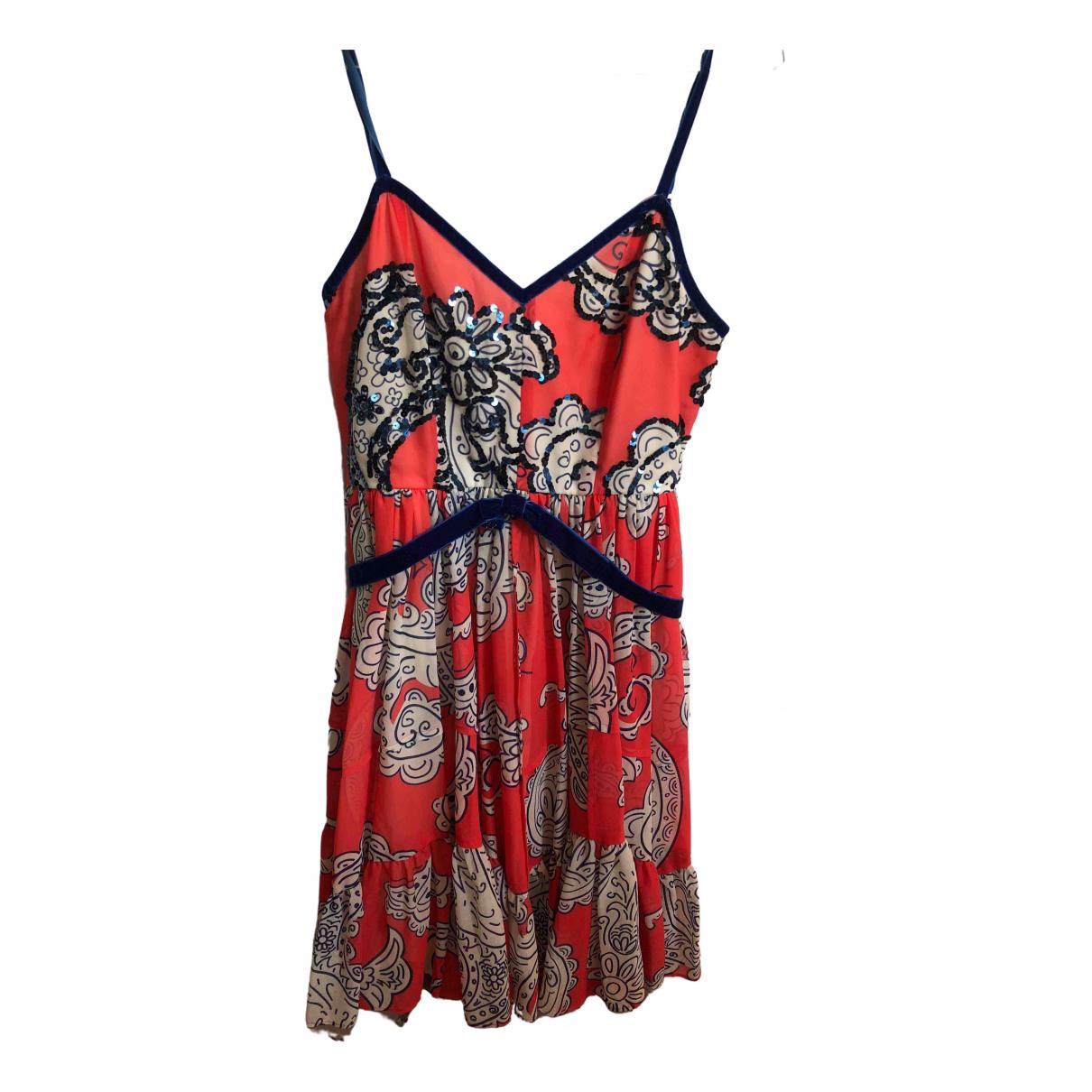 Manoush \N Kleid in  Orange Mit Pailletten