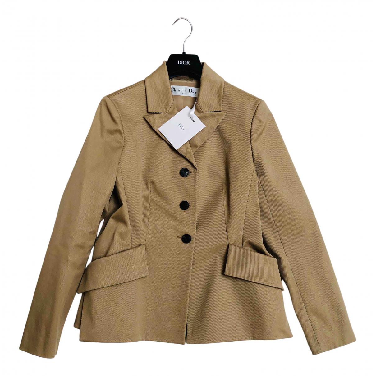 Dior - Veste   pour femme en coton - beige