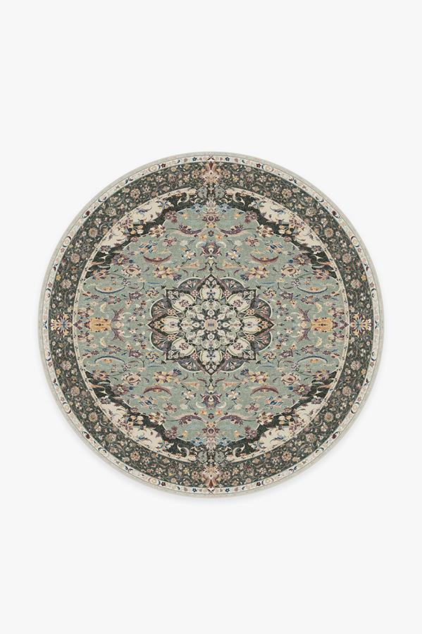 Washable Rug Cover & Pad | Sima Sage Rug | Stain-Resistant | Ruggable | 6' Round