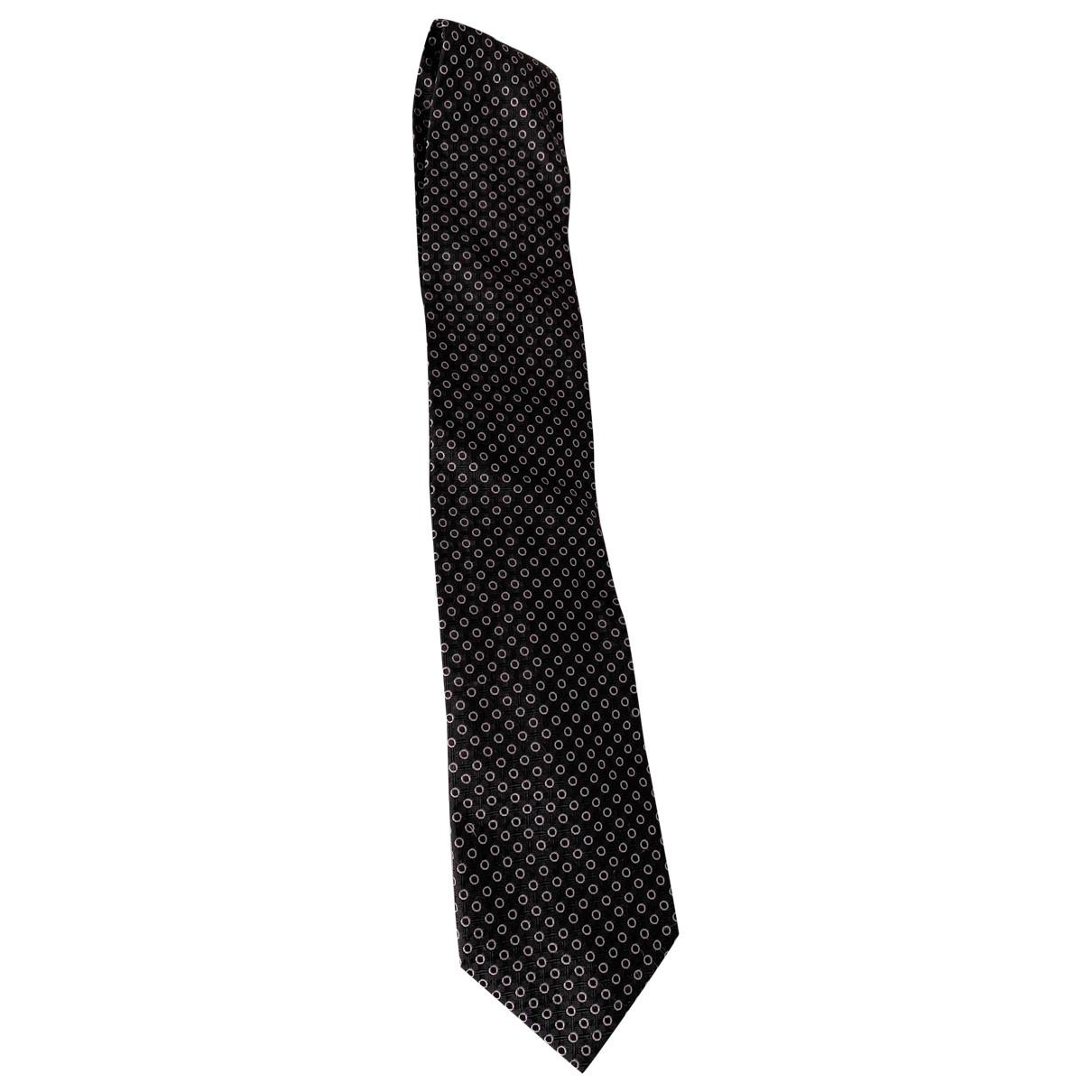 Ermenegildo Zegna \N Krawatten in  Schwarz Seide