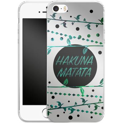 Apple iPhone 5 Silikon Handyhuelle - Hakuna Matata von Statements