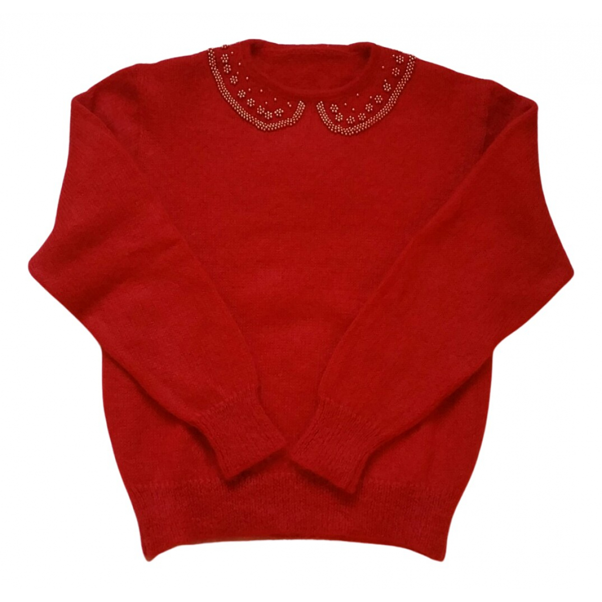 Non Signe / Unsigned \N Pullover in  Rot Wolle