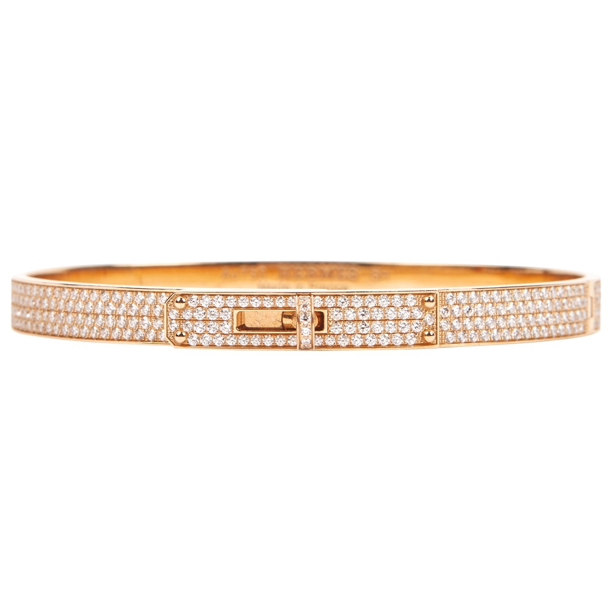 Hermes Kelly Armband in  Gold Rosegold