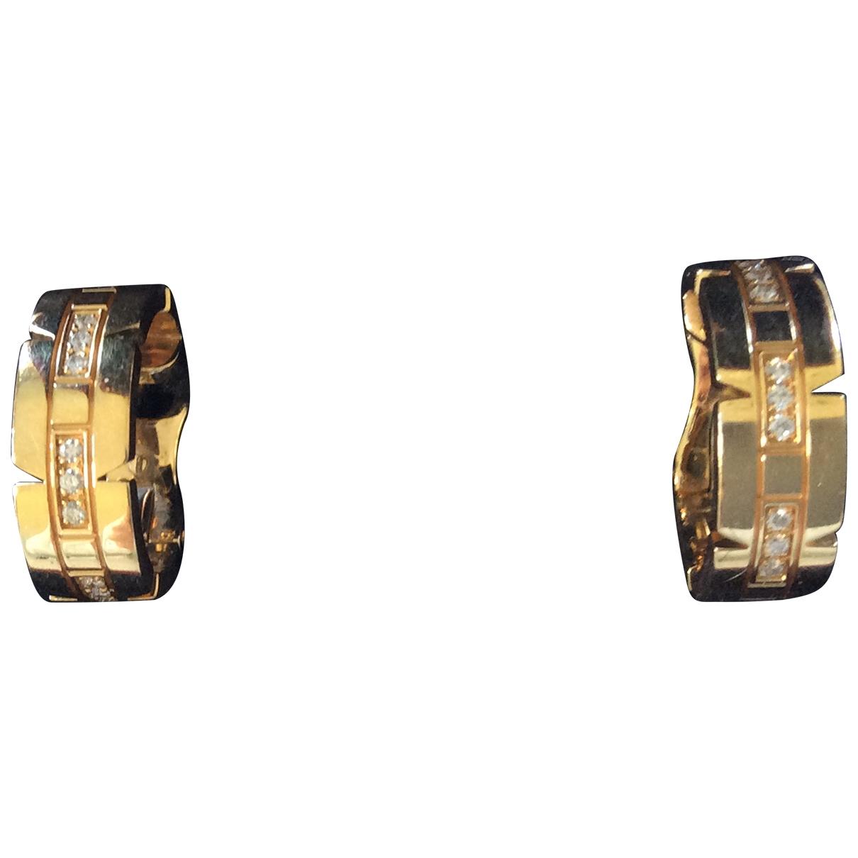 Cartier - Boucles doreilles Tank Francaise pour femme en or jaune - dore