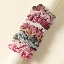 10 piezas goma de pelo elastica vistosa