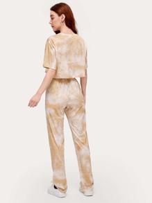 Tie Dye Crop Top & Pants Set