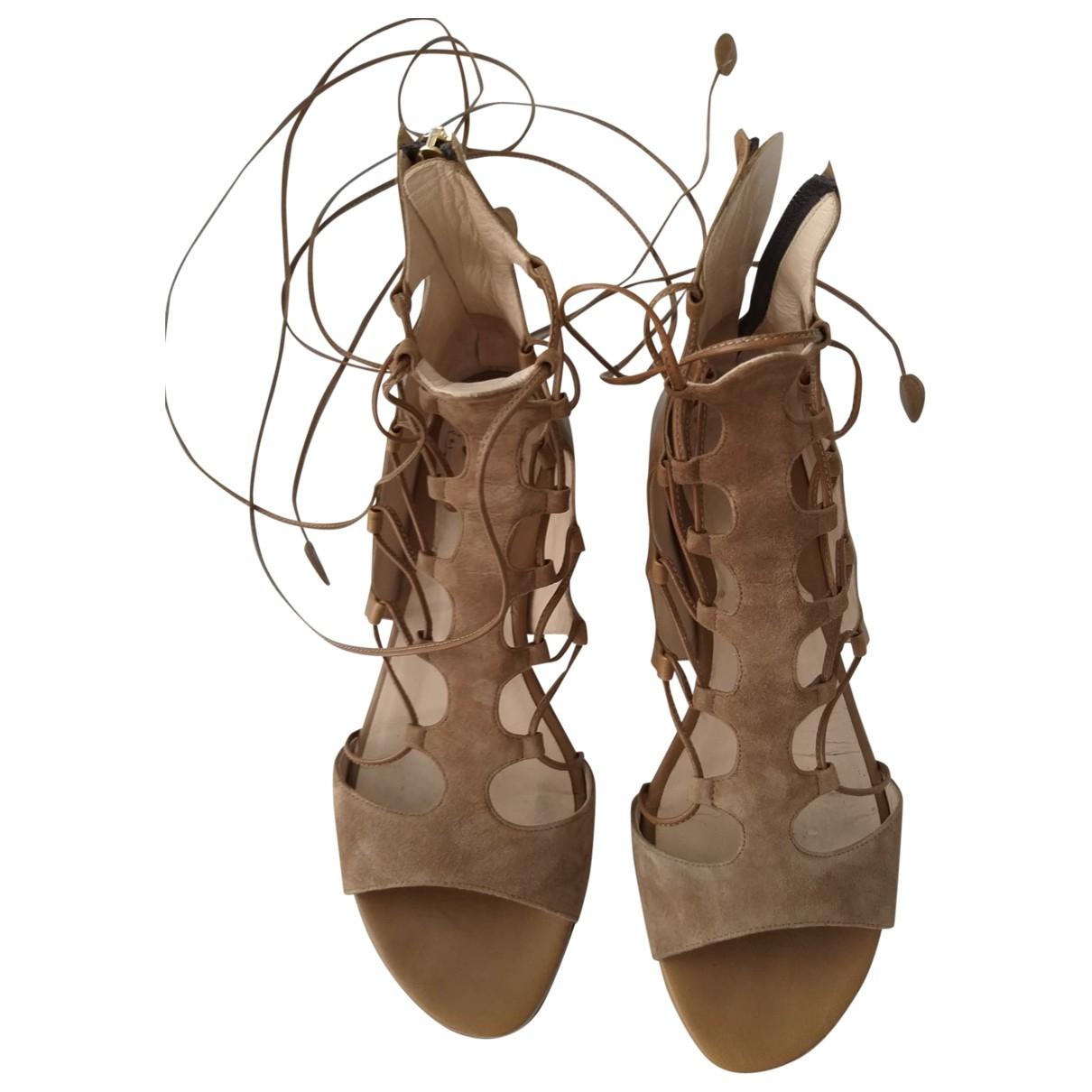 Etro - Sandales   pour femme en cuir - camel