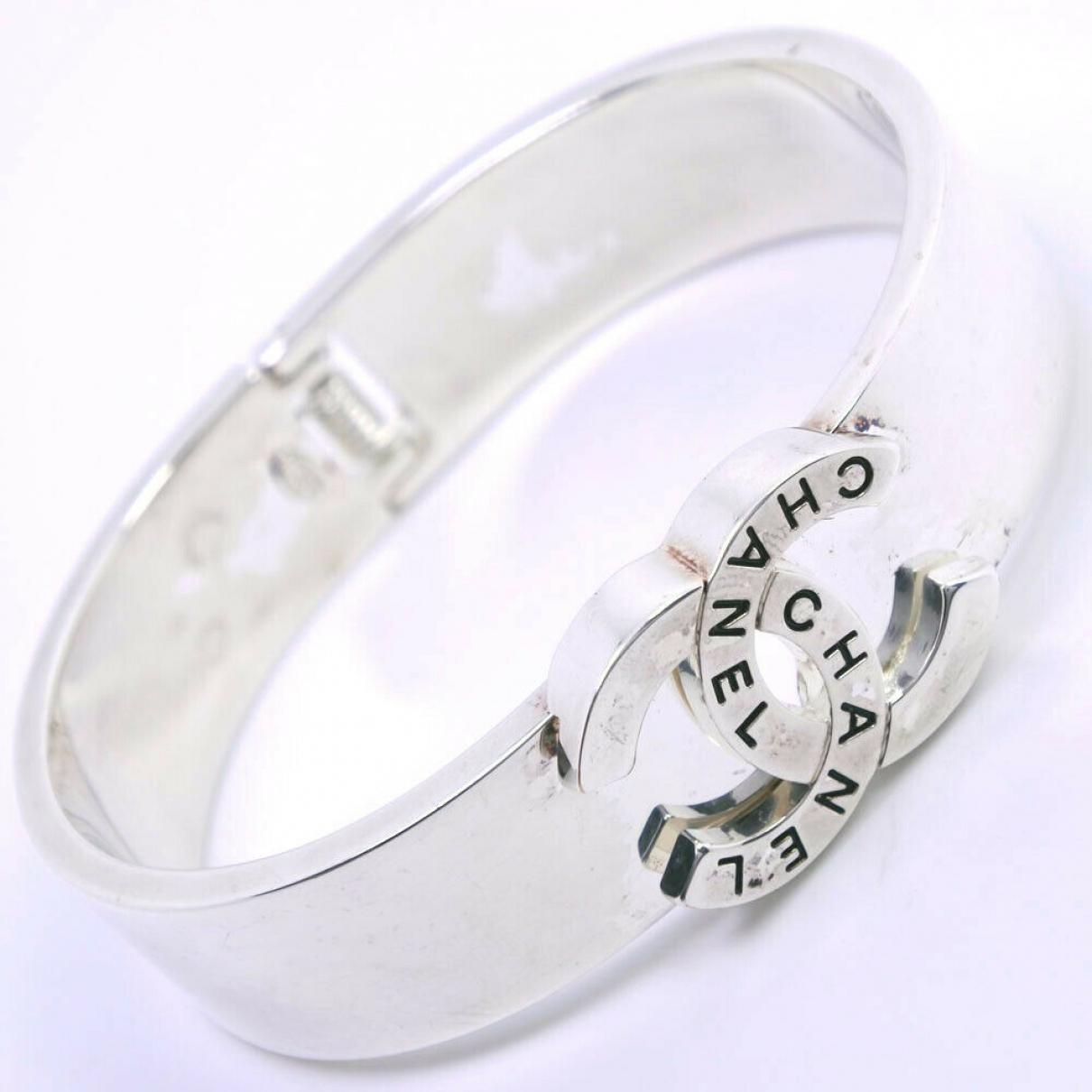 Chanel - Bracelet CC pour femme en plaque or