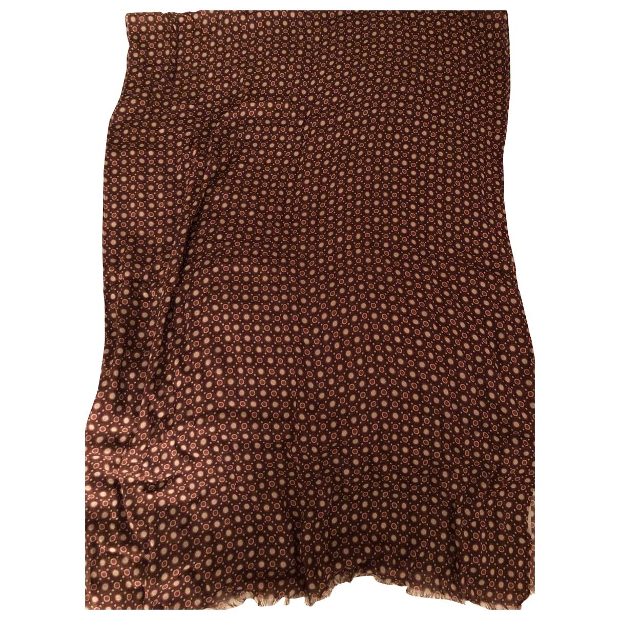 Falconeri \N Burgundy Linen scarf for Women \N