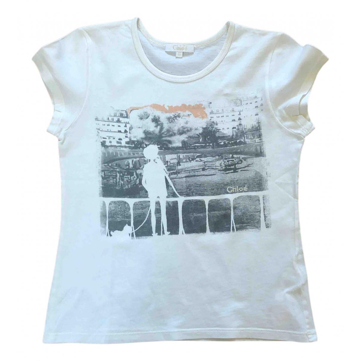 Chloe - Top   pour enfant en coton - blanc