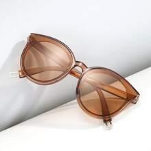 Men Minimalist Acrylic Frame Sunglasses
