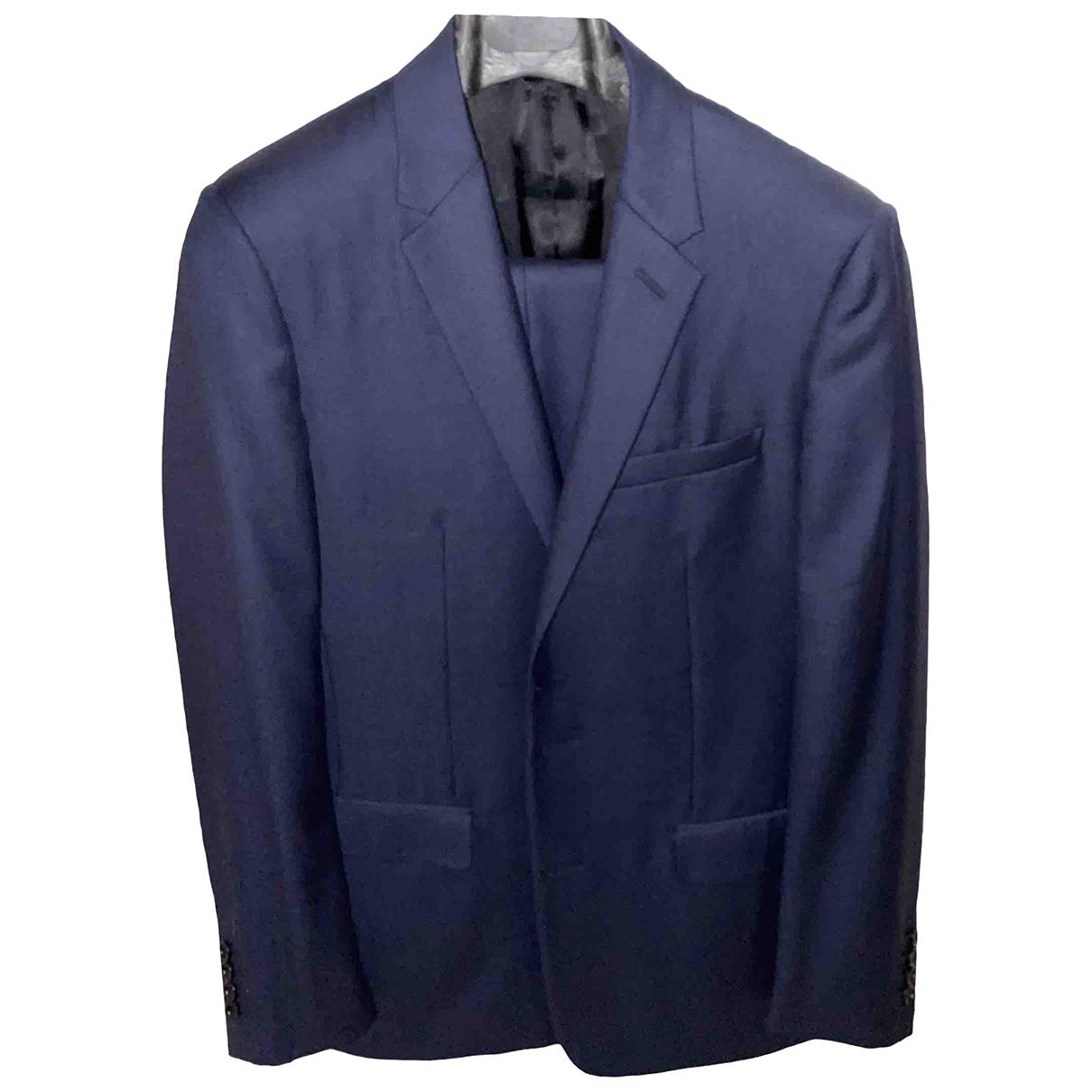 Dior Homme N Blue Wool Suits for Men 48 FR