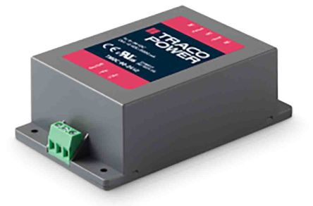 TRACOPOWER TEP 100 100W Isolated DC-DC Converter Through Hole, Voltage in 9 → 18 V dc, Voltage out 5V dc Railway