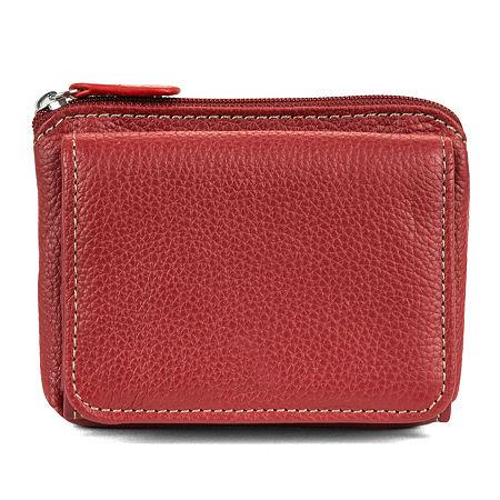 Mundi Rio Leather Mini Wallet, One Size , Red