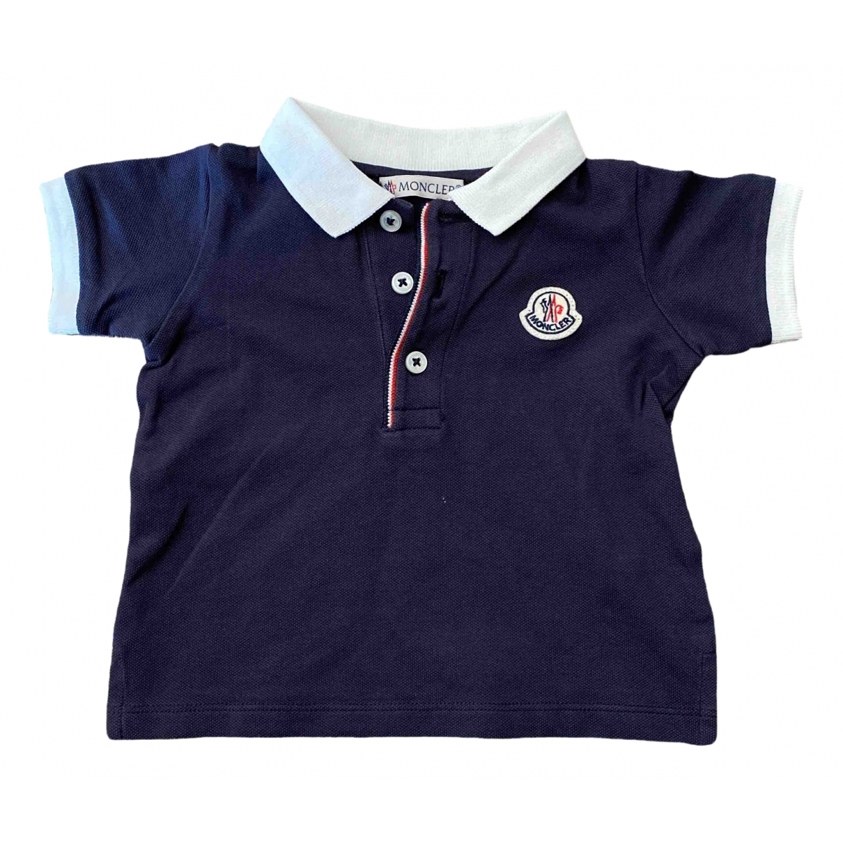 Moncler \N Blue Cotton Knitwear for Kids 6 months - up to 67cm FR