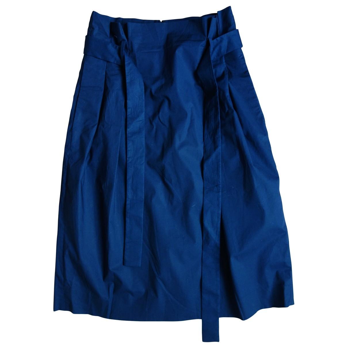 Cos \N Blue Cotton skirt for Women 36 FR