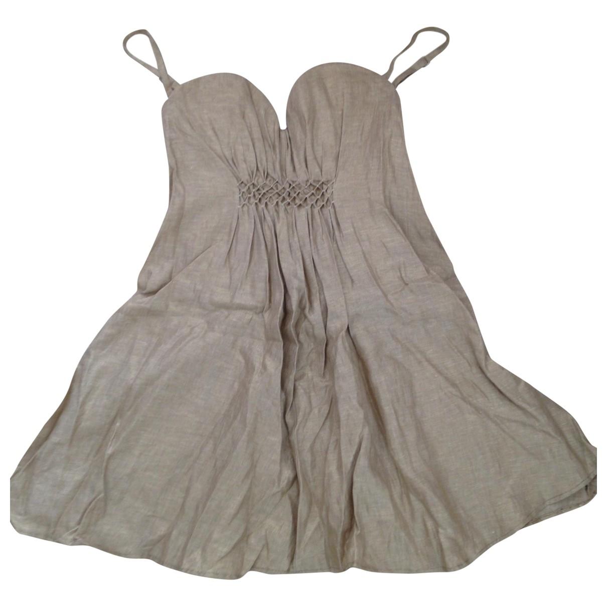 Ermanno Scervino \N Kleid in  Gold Baumwolle