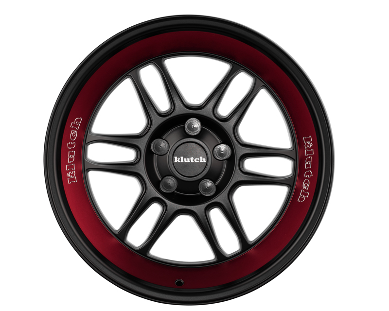 Klutch MATTE Black-RED STRIPE ML1 Wheel 18x8 5x112-5 x 122 10-35mm