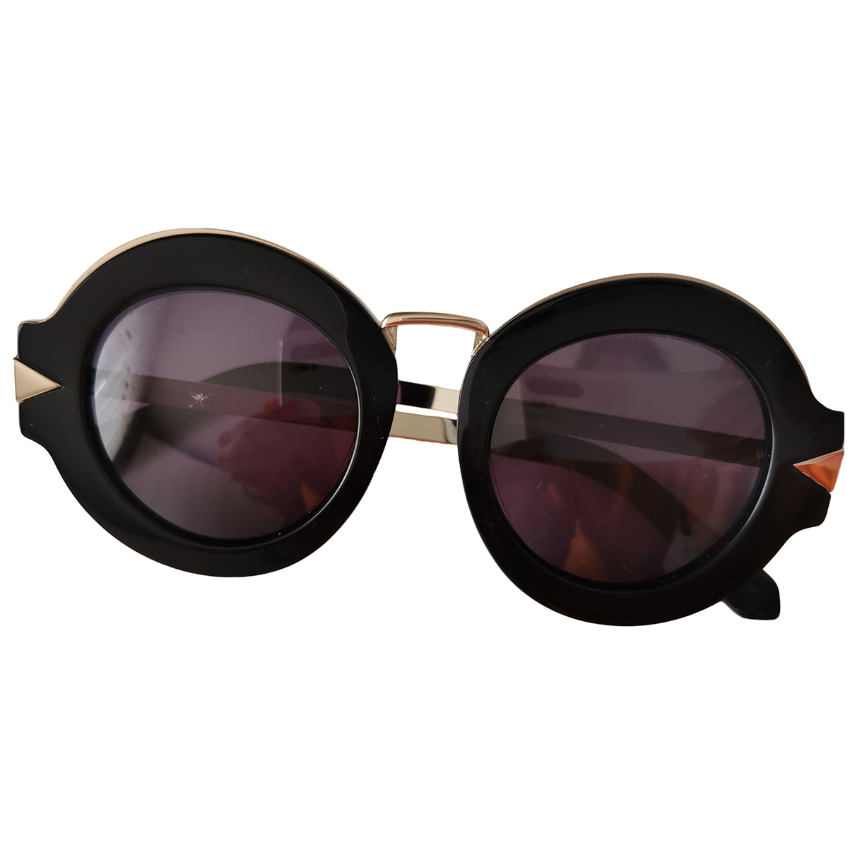 Karen Walker \N Black Metal Sunglasses for Women \N