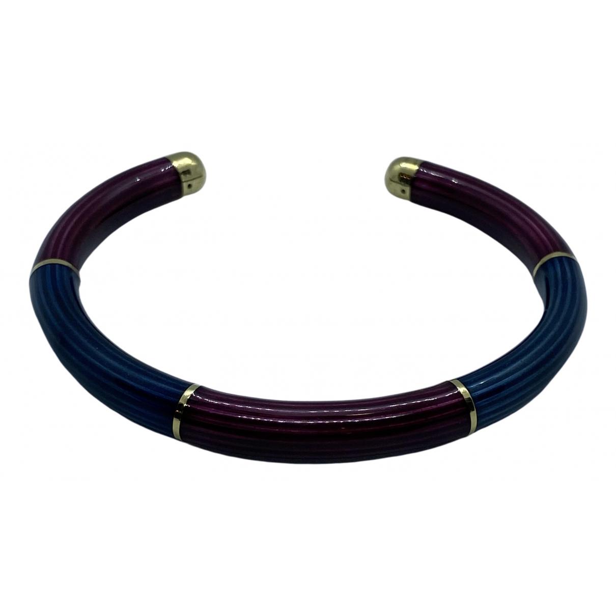 Non Signé / Unsigned Jonc Blue Yellow gold bracelet for Women \N