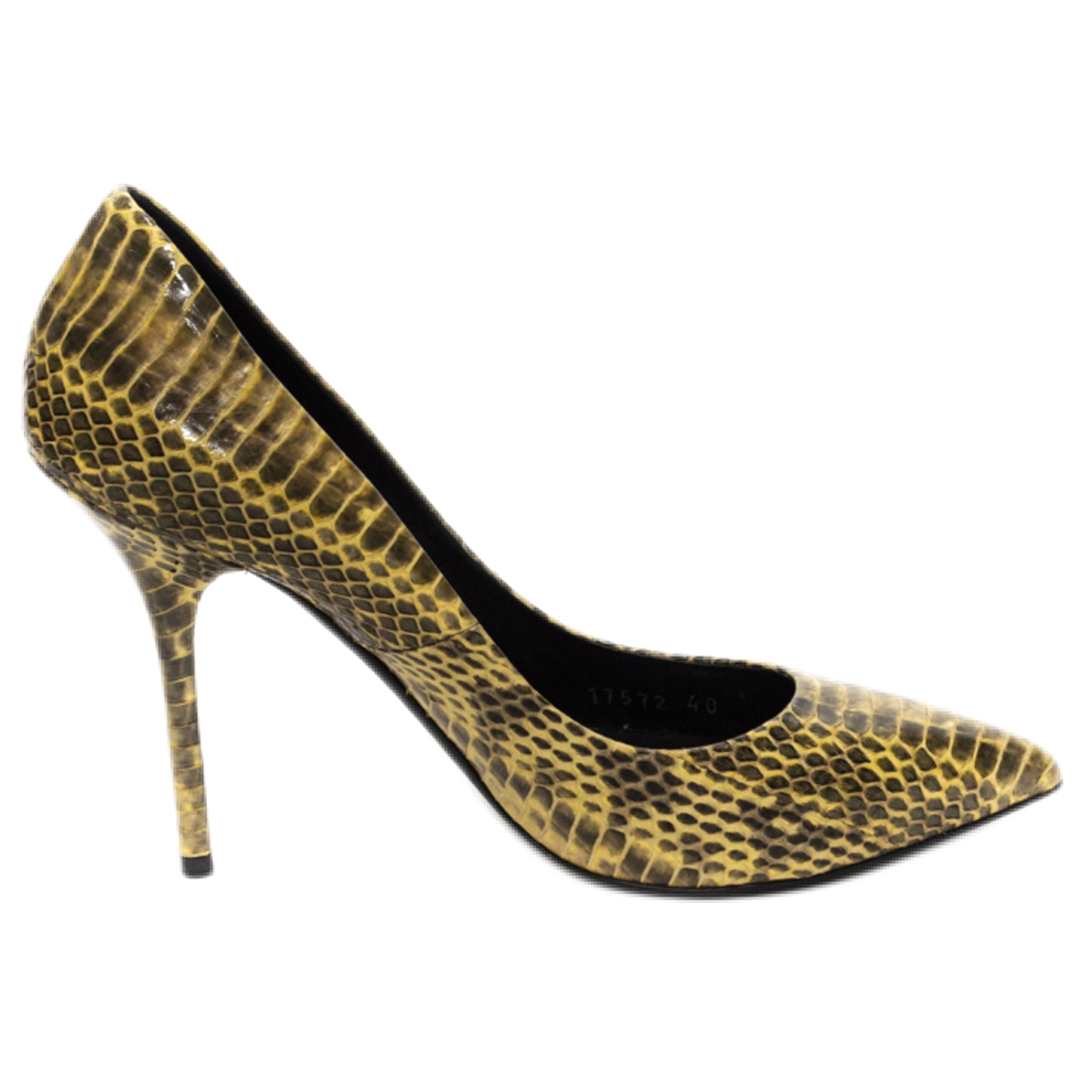 Dolce & Gabbana \N Yellow Water snake Heels for Women 40 EU