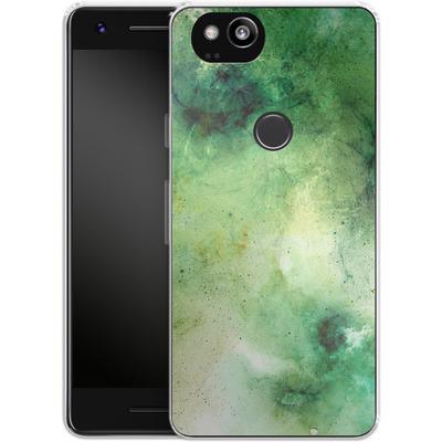 Google Pixel 2 Silikon Handyhuelle - Abstract Galaxy - Green von Barruf