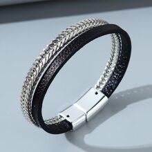 Men Chain Layered Bracelet