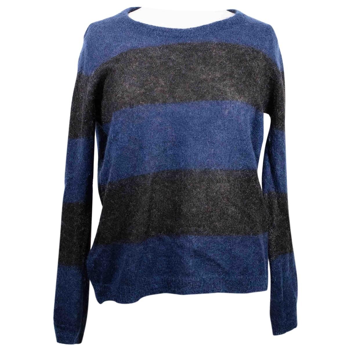 American Vintage - Pull   pour femme en laine - marine