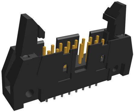 TE Connectivity , AMP-LATCH, 16 Way, 2 Row, Straight PCB Header