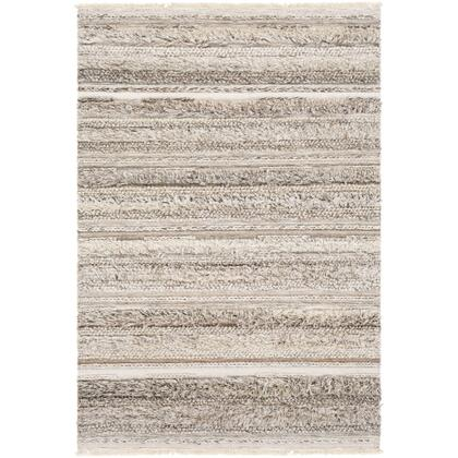 Lugano LUG-2300 8' x 10' Rectangle Global Rug in Camel  Cream  White