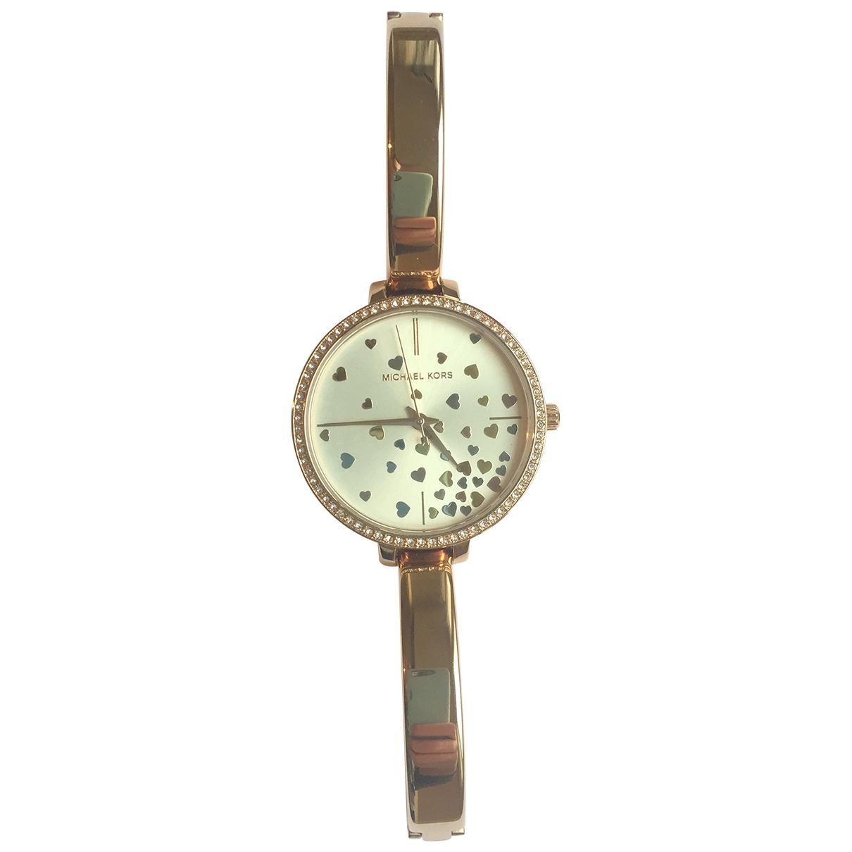 Michael Kors \N Uhr in  Rosa Stahl