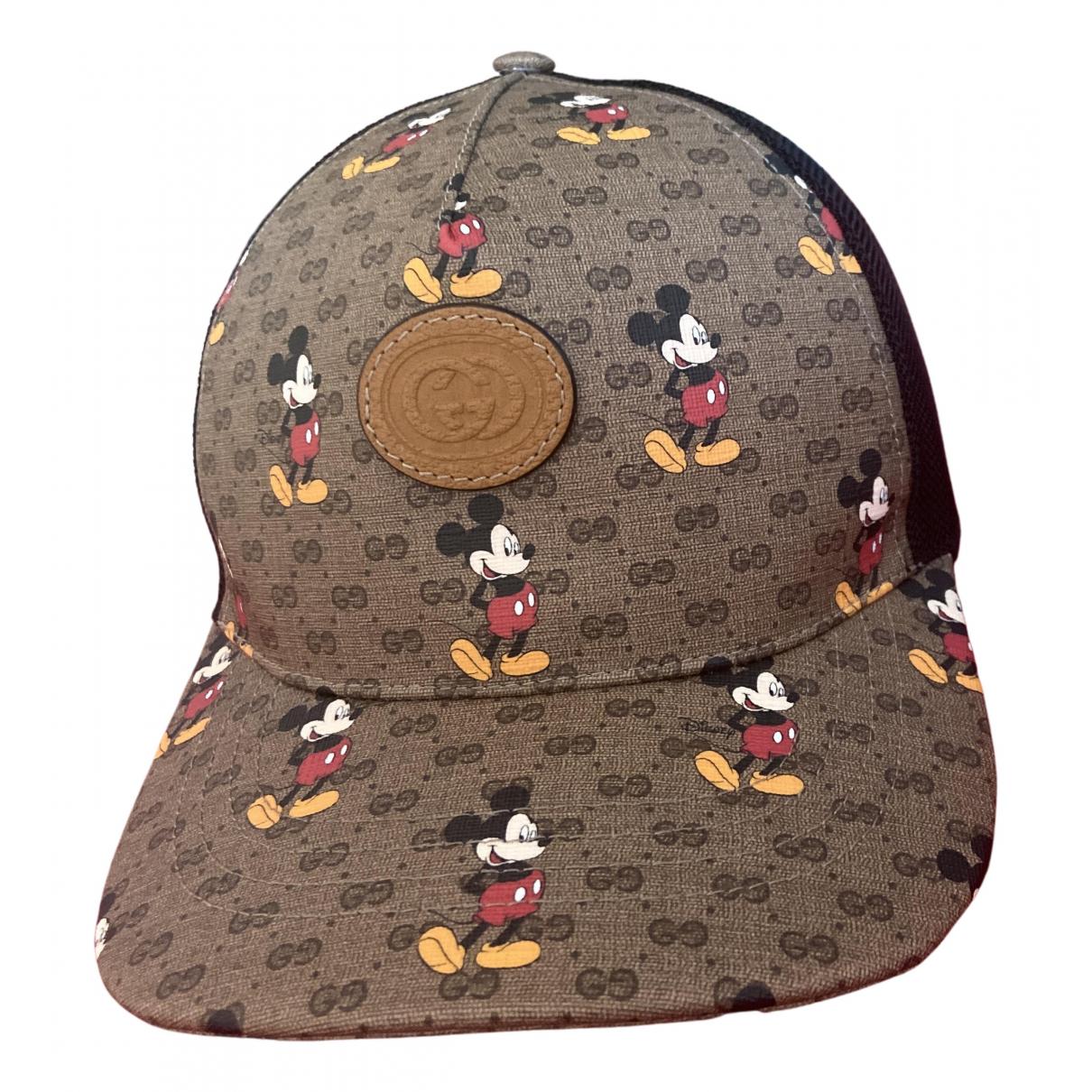 Gucci - Chapeau & Bonnets   pour homme en toile - marron